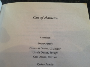 Cast of Characters - Fall of Giants
